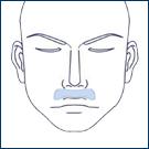 鼻下 照射時間 約5分