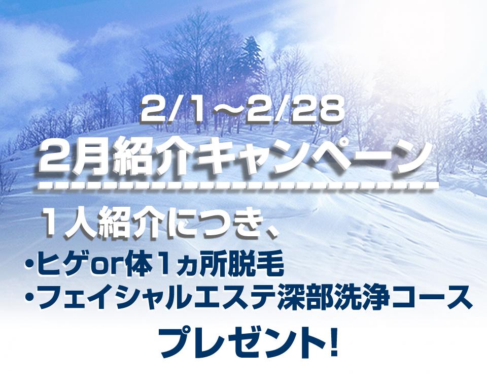 2017年2月紹介キャンペーン